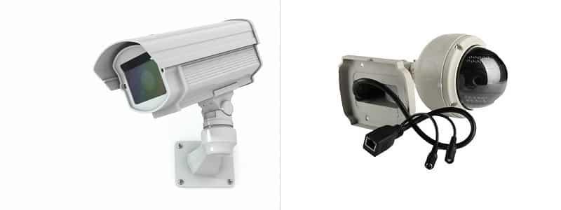 Cámaras de seguridad domo o cámaras bullet