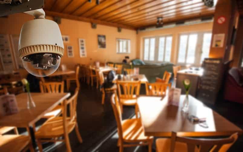 Cámaras de vigilancia para restaurantes y bares